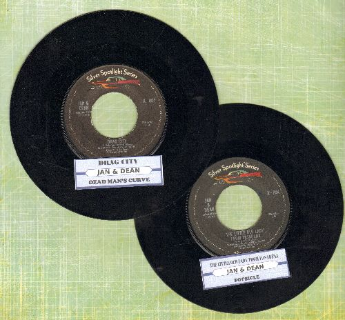 Jan & Dean - 2 for 1 Special: Drag City/Dead Man's Curve & The Little Old Lady From Passadena/Posicle (2 double-hit re-issues  issue 45s with juke box labels for the price of 1!) - NM9/ - 45 rpm Records