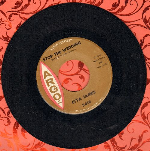 James, Etta - Stop The Wedding/Street Of Tears - EX8/ - 45 rpm Records