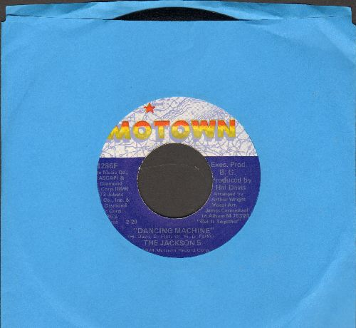 Jackson 5 - Dancing Machine/It's Too Late To Change The Time (with Motown company sleeve) - NM9/ - 45 rpm Records