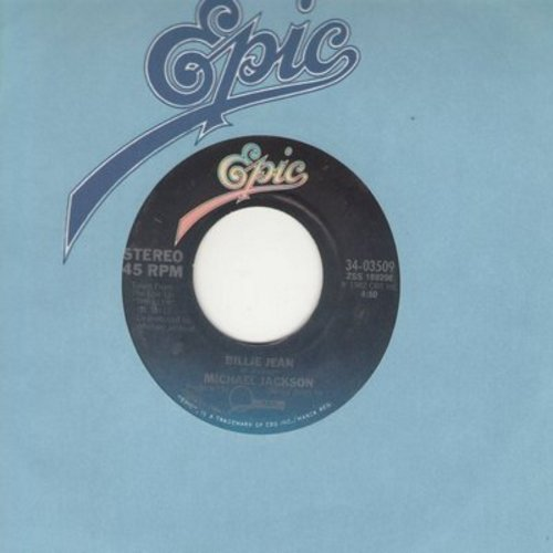Jackson, Michael - Billie Jean/Can't Get Outta The Rain (with Epic company sleeve) - EX8/ - 45 rpm Records