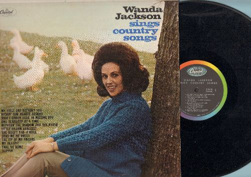 Jackson, Wanda - Wanda Jackson Sings Country Music: My First Day Without You, Send Me No Roses, The Tip Of My Fingers, Little Charm Bracelet (vinyl MONO LP record) - EX8/NM9 - LP Records