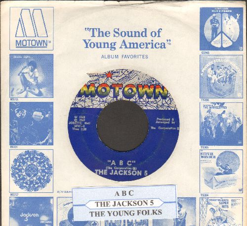 Jackson 5 - ABC/The Young Folks (with juke box label and Motown company sleeve) - NM9/ - 45 rpm Records