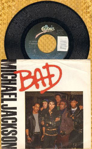 Jackson, Michael - Bad/I Can't Help It (with picture sleeve)  - NM9/EX8 - 45 rpm Records