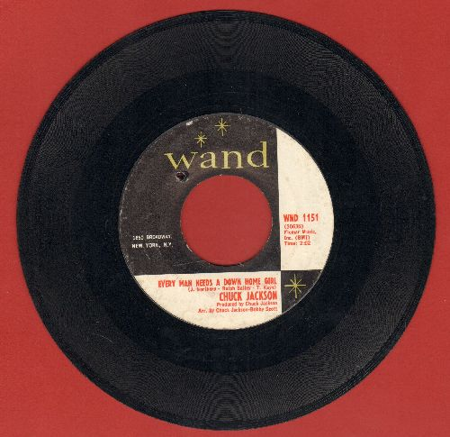 Jackson, Chuck - Every Man Needs A Down Home/Need You There (To See Me Trough) (bb) - EX8/ - 45 rpm Records