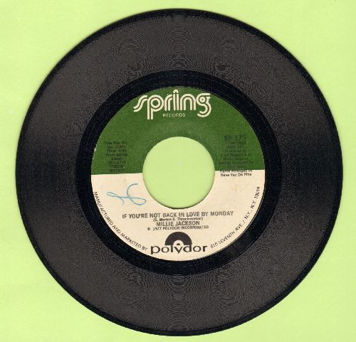 Jackson, Millie - If You're Not Back In Love By Monday/A Little Taste Of Outside Love - EX8/ - 45 rpm Records