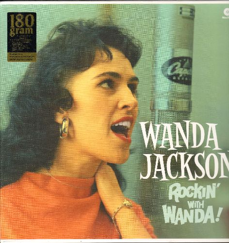 Jackson, Wanda - Rockin' With Wanda!: Rock Your Baby, Let's Have A Party, Did You Miss Me, Funnel Of Love, Riot In Cell Block #9 (Direct Metal Remastered EU Pressing, SEALED, never opened!) - SEALED/SEALED - LP Records