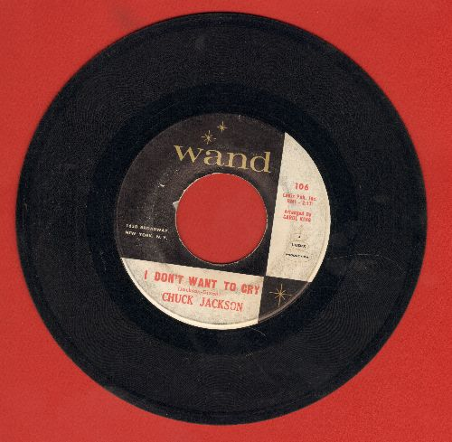 Jackson, Chuck - I Don't Want To Cry/Just Once - VG7/ - 45 rpm Records
