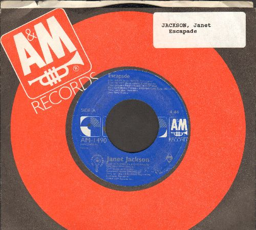 Jackson, Janet - Escapade/Escapade (Instrumental) (with A&M company sleeve) - NM9/ - 45 rpm Records