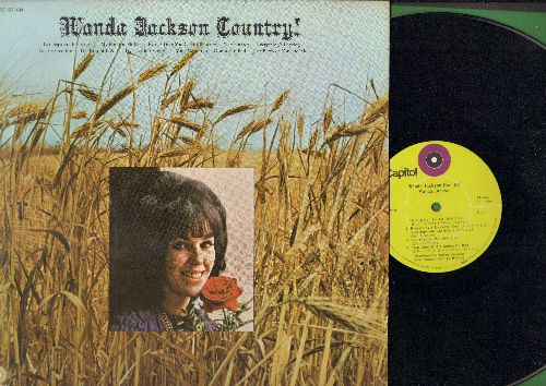 Jackson, Wanda - Wanda Jackson Country!:By The Time You Get To Phoenix, Try A Little Tenderness, Your Good Girl's Gonna Go Bad, My Big Iron Skillet (Vinyl STEREO LP record) - NM9/NM9 - LP Records