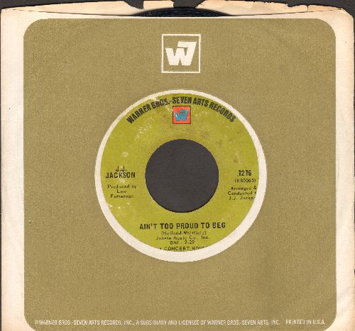 Jackson, J. J. - Ain't Too Proud To Beg/But It's Alright (with picture sleeve) - VG7/ - 45 rpm Records