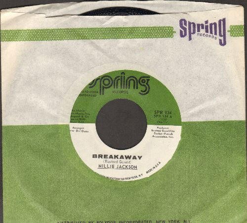 Jackson, Millie - Breakway/Dtrange Things (with RARE Spring company sleeve) - NM9/ - 45 rpm Records