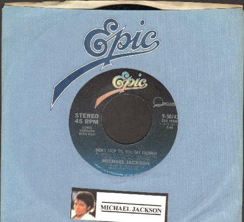 Jackson, Michael - Don't Stop 'Til You Get Enough/I Can't Help It (with Epic company sleeve) (with Epic company sleeve) - NM9/ - 45 rpm Records
