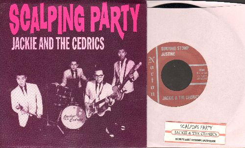Jackie & The Cedrics - Scalping Party/Sukiyaki Stomp/Justine (Limited Edition re-issue with picture sleeve and juke box label) - NM9/NM9 - 45 rpm Records