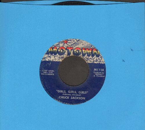 Jackson, Chuck - Girls, Girls, Girls/(You Can't Let The Boy Overpower) The Man In You - VG7/ - 45 rpm Records
