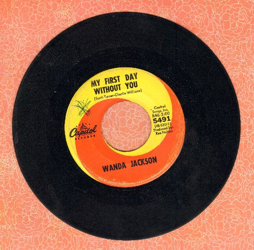 Jackson, Wanda - My First Day Without You/Send Me No Roses (minor wol) - EX8/ - 45 rpm Records
