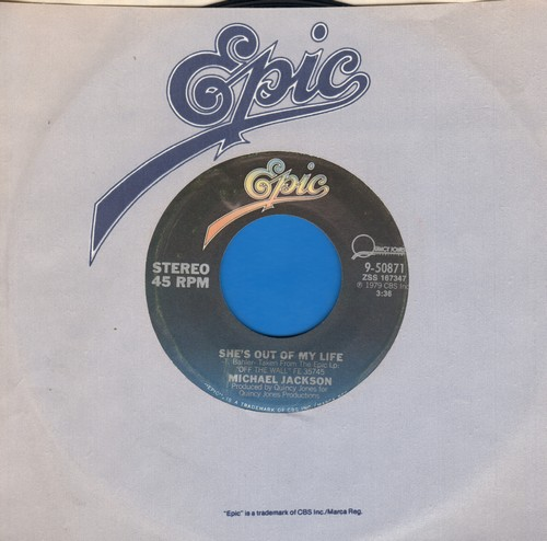 Jackson, Michael - She's Out Of My Life/Get On The Floor - VG7/ - 45 rpm Records