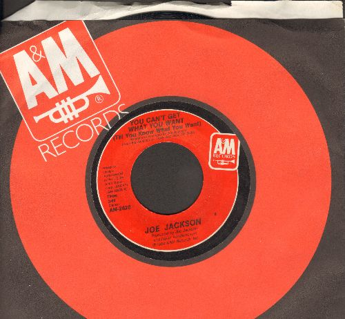 Jackson, Joe - You Can't Get What You Want (Till You Know What You Want)/Cha Cha Loco (with A&M company sleeve) - NM9/ - 45 rpm Records