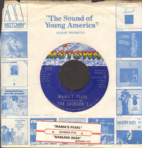Jackson 5 - Mama's Pearl/Darling Dear (with vintage Motown company sleeve and juke box label) - NM9/ - 45 rpm Records