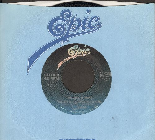 Jackson, Michael & Paul McCartney - The Girl Is Mine/Can't Get Outa The Rain  - NM9/ - 45 rpm Records