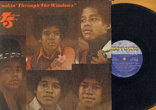Jackson 5 - Looking Through The Windows: Little Bitty Pretty One, Ain't Nothing Like The Real Thing, Doctor My Eyes (vinyl STEREO LP record) - EX8/EX8 - LP Records