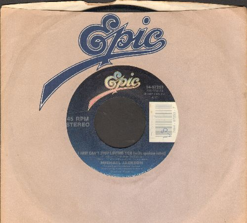 Jackson, Michael - I Just Can't Stop Loving You/Baby Be Mine (with company sleeve) - NM9/ - 45 rpm Records
