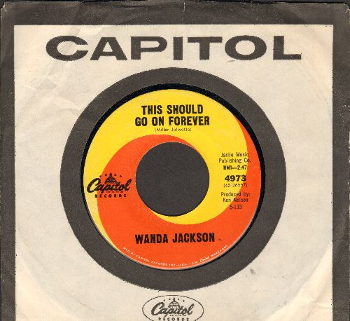 Jackson, Wanda - This Should Go On Forever/We Haven't A Moment To Lose (MINT condition with vintage Capitol company sleeve) - M10/ - 45 rpm Records