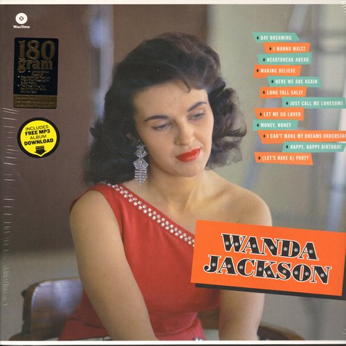 Jackson, Wanda - Wanda Jackson: Happy Happy Birthday, Let's Have A Party, Money Honey, Long Tall Sally, Day Dreaming (Virgin Vinyl re-issue of RARE debut album, EU Pressing, SEALED< never opened!) - SEALED/SEALED - LP Records