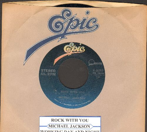 Jackson, Michael - Rock With You/Working Day And Night (WITH Epic company sleeve and juke box label) - NM9/ - 45 rpm Records