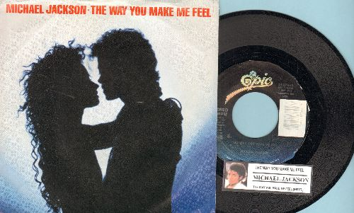 Jackson, Michael - The Way You Make Me Feel/The Way You Make Me Feel (Instrumental) (with picture sleeve and juke box label) - EX8/EX8 - 45 rpm Records