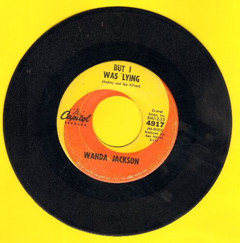 Jackson, Wanda - But I Was Lying/Sympathy - VG7/ - 45 rpm Records