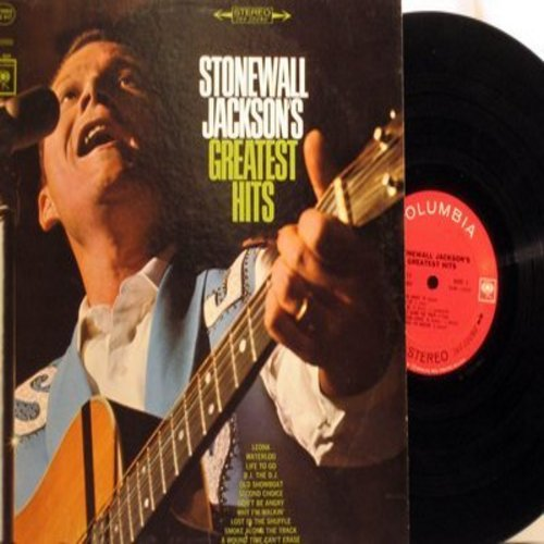 Jackson, Stonewall - Greatest Hits: Don't Be Angry, Waterloo, Second Choice, Leona, Lost In The Shuffle, Second Choice, Smoke Along The Track (Vinyl STEREO LP record) - NM9/EX8 - LP Records