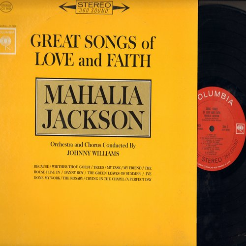 Jackson, Mahalia - Great Songs Of Love And Faith: Danny Boy, The Rosary, Crying In The Chapel, A Perfect Day, Trees (Vinyl STEREO LP record) - NM9/NM9 - LP Records