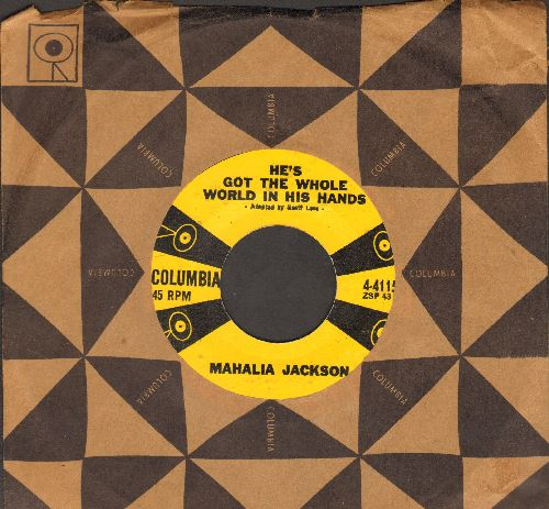 Jackson, Mahalia - He's Got The Whole Word In His Hands/Didn't It Rain (with vintage Columbia company sleeve) - EX8/ - 45 rpm Records