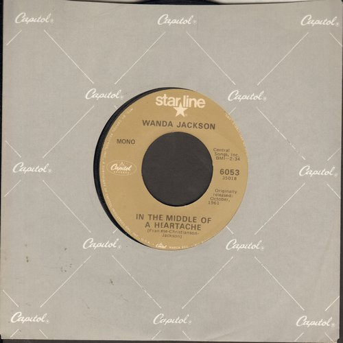 Jackson, Wanda - In The Middle Of The Heartache/Right Or Wrong (re-issue) - EX8/ - 45 rpm Records