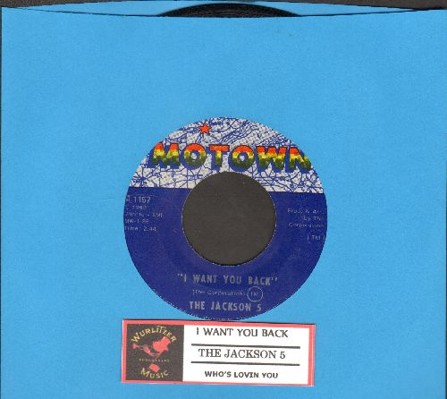 Jackson 5 - I Want You Back/Who's Lovin You (with juke box label) - EX8/ - 45 rpm Records