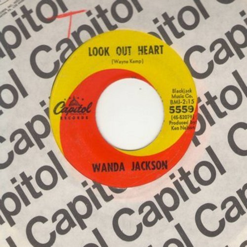 Jackson, Wanda - Look Out Heart/The Box It Came In (with Capitol company sleeve) - EX8/ - 45 rpm Records