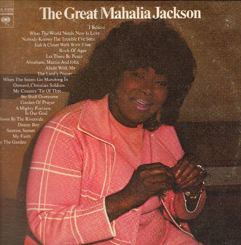 Jackson, Mahalia - The Great Mahalia Jackson: Nobody Knows The Trouble I've Seen, Danny Boy, Onward Christian Soldiers, The Lord's Prayer, Sunrise Sunset (2 vinyl LP records, gate-fold cover) - EX8/VG7 - LP Records