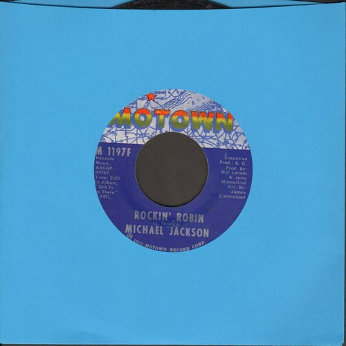 Jackson, Michael - Rockin' Robin/Love Is Here And Now You're Gone - NM9/ - 45 rpm Records