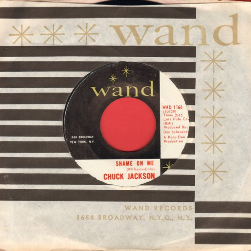 Jackson, Chuck - Candy/Shame On Me (with RARE vintage Wand company sleeve) - M10/ - 45 rpm Records