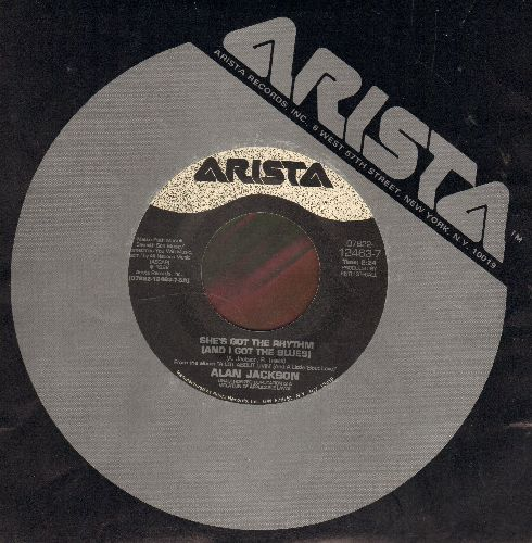 Jackson, Alan - She's Got The Rhythm (And I Got The Blues)/She Likes It Too (with Arista company sleeve) - EX8/ - 45 rpm Records