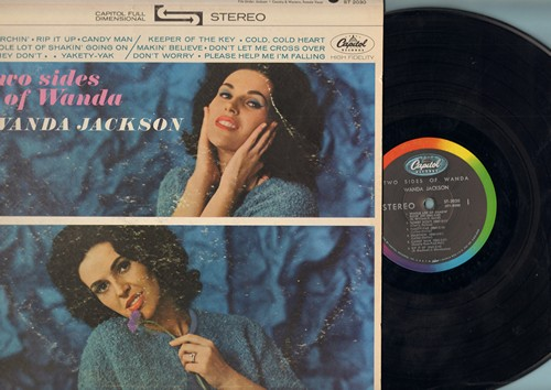 Jackson, Wanda - Twos Sides Of Wanda: Candy Man, Searchin', Please Help Me I'm Falling, Don't Worry (Vinyl STEREO LP record) - VG7/VG6 - LP Records
