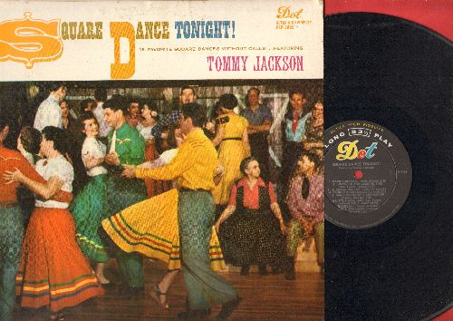 Jackson, Tommy - Square Dance Tonight! - 16 Favorite Square Dances With Calls (vinyl MONO LP record) - EX8/VG7 - LP Records