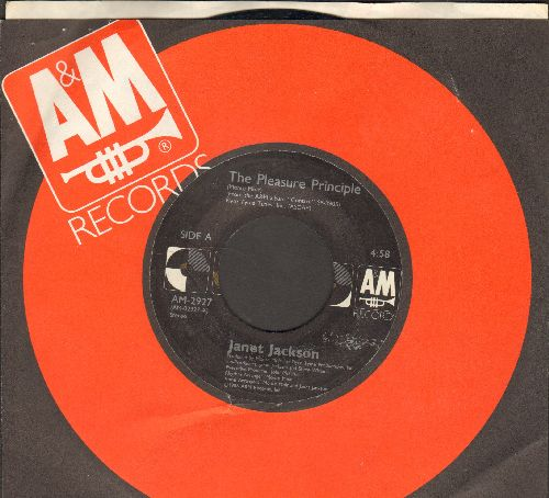 Jackson, Janet - The Pleasure Principle/Fast Girls (with A&M company sleeve) - NM9/ - 45 rpm Records