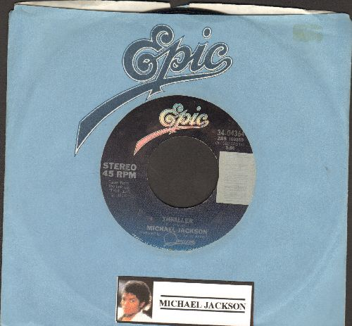 Jackson, Michael - Thriller/Can't Get Outta The Rain (with Epic company sleeve) - EX8/ - 45 rpm Records