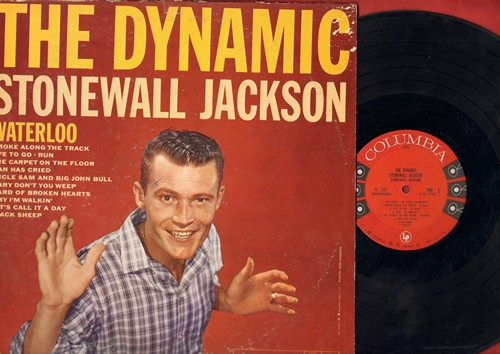 Jackson, Stonewall - The Dynamic Stonewall Jackson: Waterloo, Uncle Sam And Big John Bull, Let's Call It A Day, Black Sheep (vinyl MONO LP record, 1959 first pressing) - VG7/VG7 - LP Records