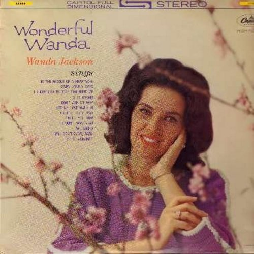 Jackson, Wanda - Wonderful Wanda: In The Middle Of A Heartache, A Little Bitty Tear, I'd Be Ashamed, I Don't Wanta, Don't Ask Me Why, Seven Lonely Days (Vinyl STEREO LP record, German Pressing) - EX8/EX8 - LP Records
