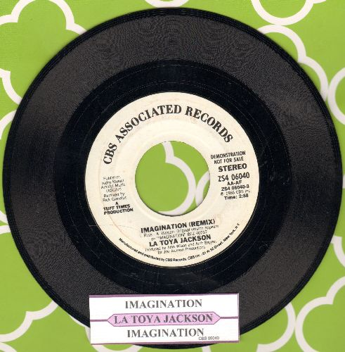 Jackson, LaToya - Imagination (Remix) (double-A-sided DJ advance pressing with juke box label) - NM9/ - 45 rpm Records