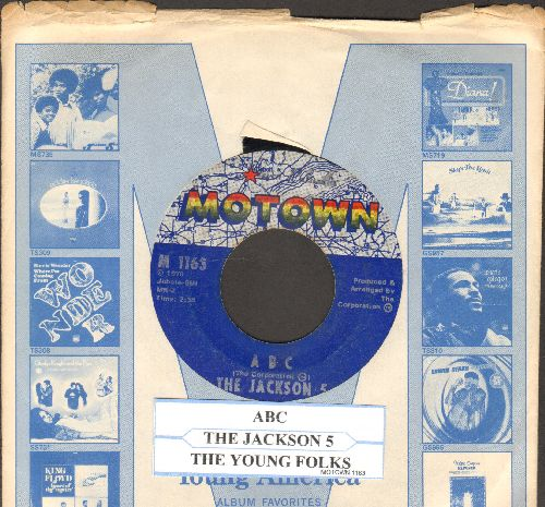 Jackson 5 - ABC/The Young Folks (with juke box label and Motown company sleeve) - VG7/ - 45 rpm Records