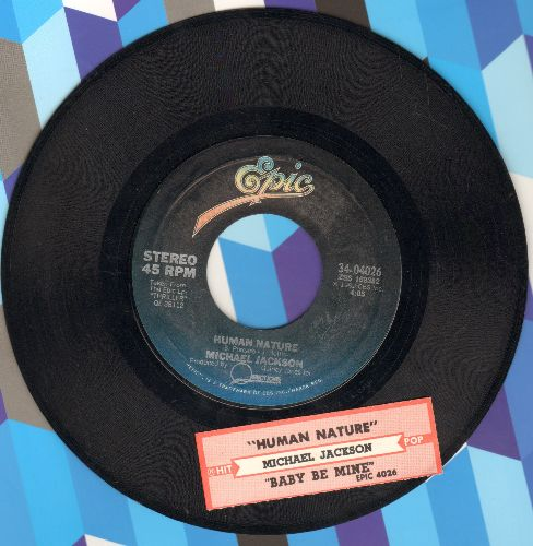 Jackson, Michael - Human Nature/Baby Be Mine (with juke box label) - EX8/ - 45 rpm Records