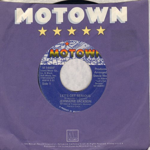 Jackson, Jermaine - Let's Get Serious/Je Vous Aime Beaucoup (I Love You) - NM9/ - 45 rpm Records